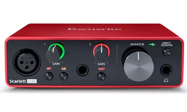 Focusrite Scarlett Audio Interface - 7 Best USB Microphones in India (2021) – Review & Comparison