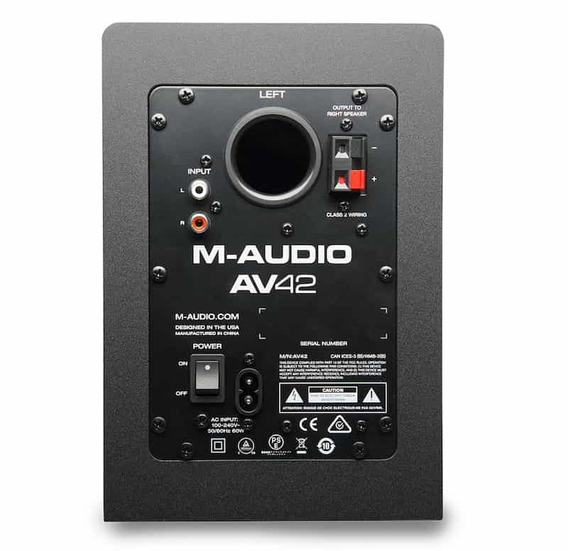 M Audio AV42 Speaker Back - 9 Best Studio Monitors in India (2020)