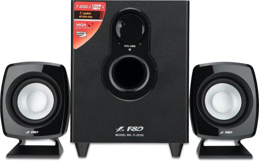 FD F203G 2.0 Speaker - The 6 Best Computer/PC Speakers in India (2021)